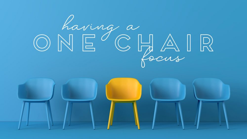 Having a One Chair Focus Image