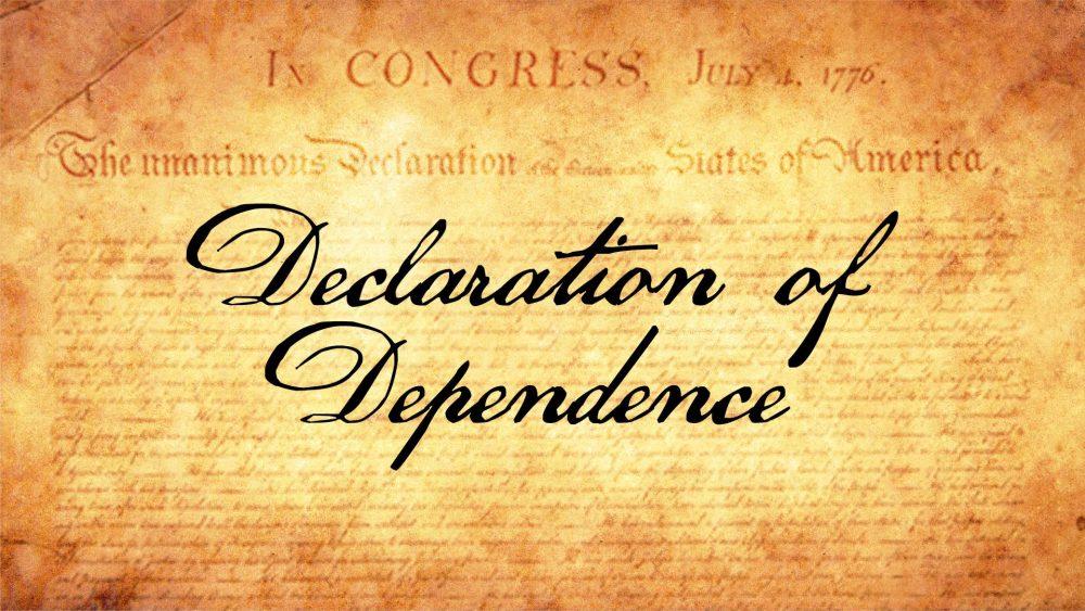 Declaration of Dependence Image