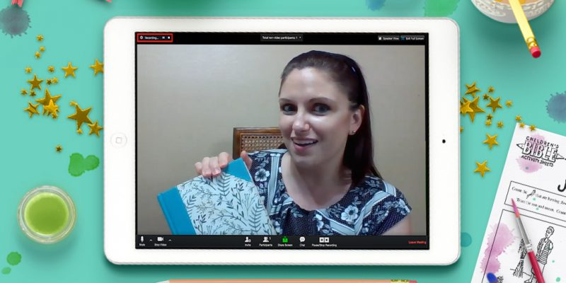 Zoom Bible Class iPad Mockup